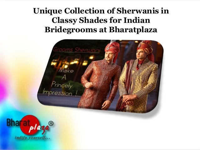 Unique collection of sherwanis in classy shades for indian bridegrooms at bharatplaza