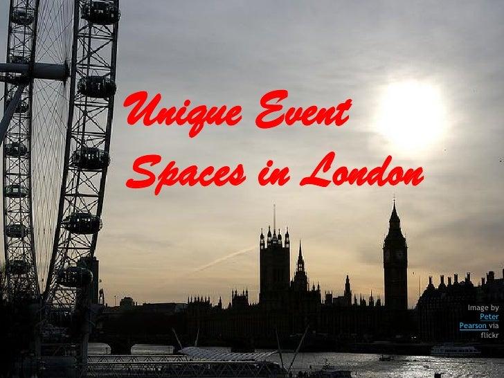Unique event spaces in london