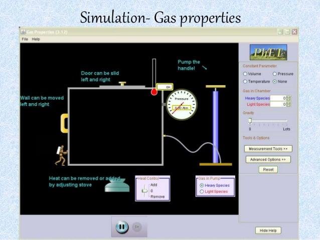 Simulation- Gas properties