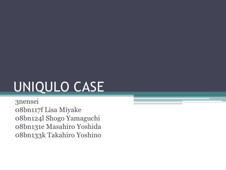 UNIQULO CASE 3nensei 08bn117f Lisa Miyake 08bn124l Shogo Yamaguchi 08bn131e Masahiro Yoshida 08bn133k Takahiro Yoshino