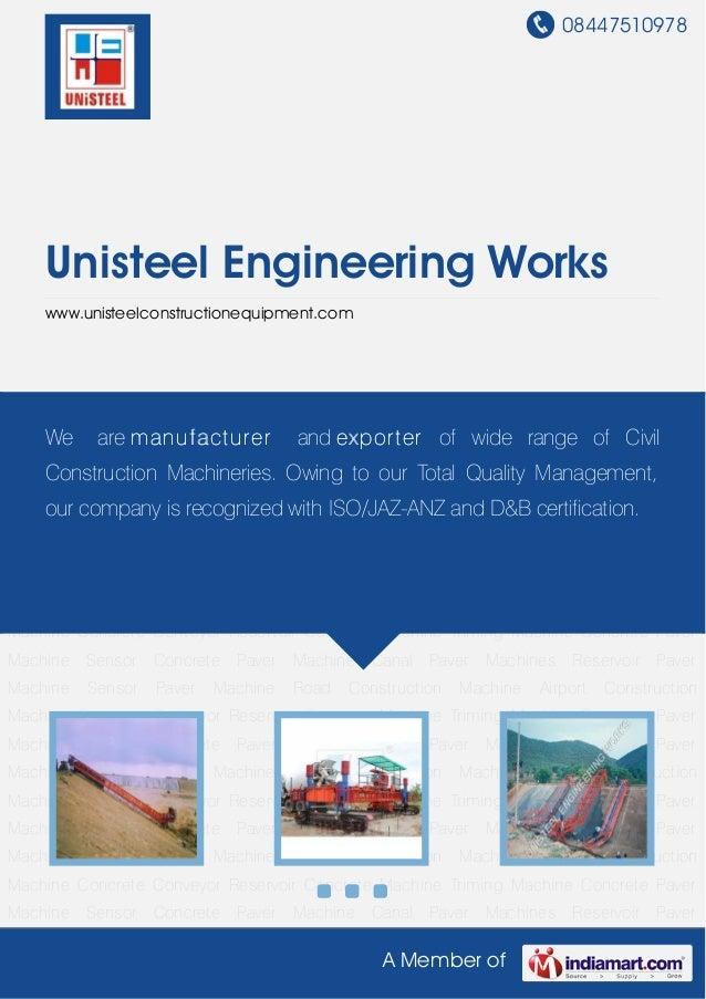08447510978A Member ofUnisteel Engineering Workswww.unisteelconstructionequipment.comConcrete Paver Machine Sensor Concret...