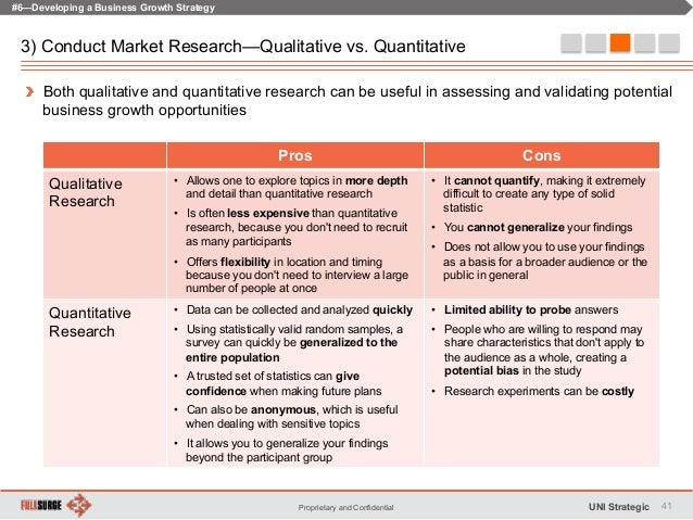 pros and cons of quantitative research Qualitative interview pros and cons january 4, 2016 by: kevin whorton interviews with members and nonmembers can help tell the story behind your quantitative research data, but only if done right.