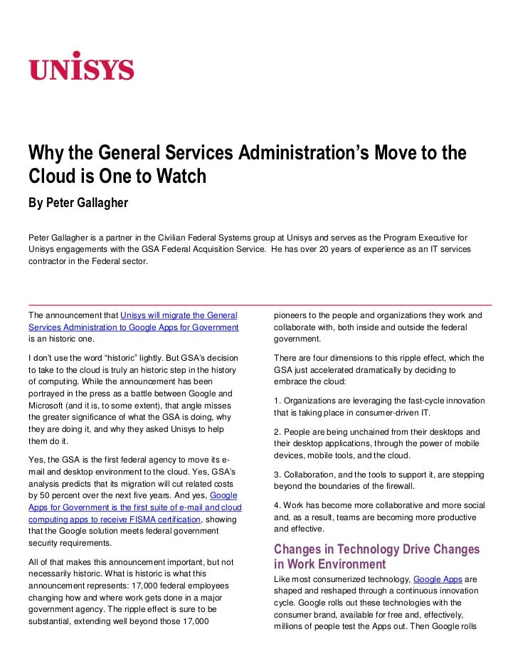 Why the General Services Administration's Move to the Cloud is One to Watch