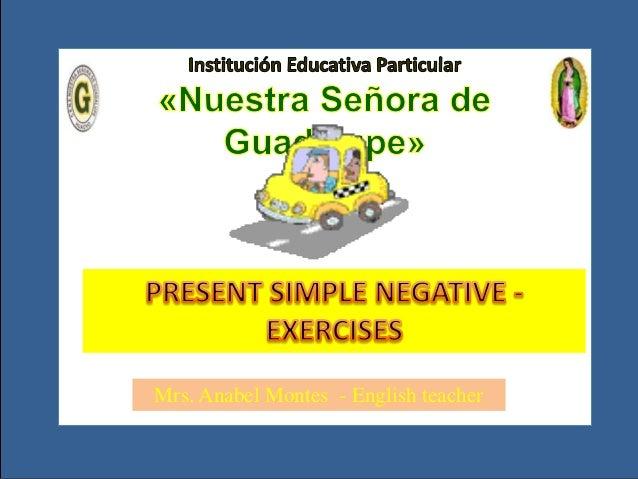 Unit  01 - present simple negative- exercises 3ro