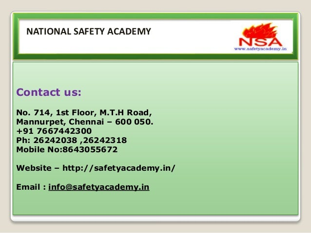 Diploma In Occupational Health And Safety