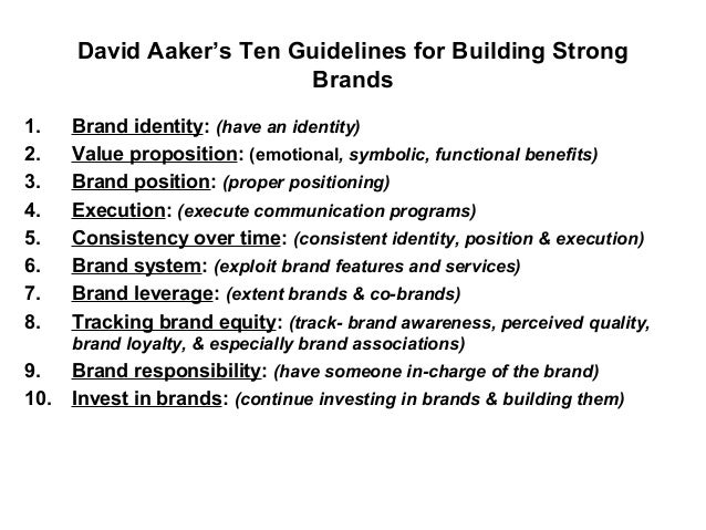 Building Strong Brands Aaker Building Strong Brands 1