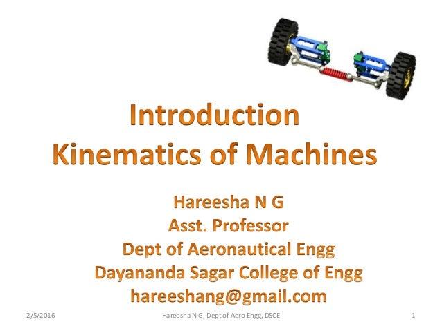 2/5/2016 1Hareesha N G, Dept of Aero Engg, DSCE