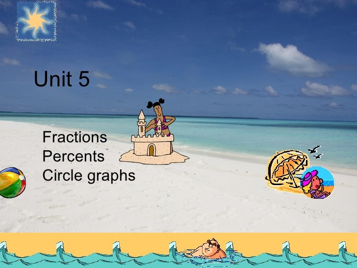 Fractions Percents Circle graphs Unit 5