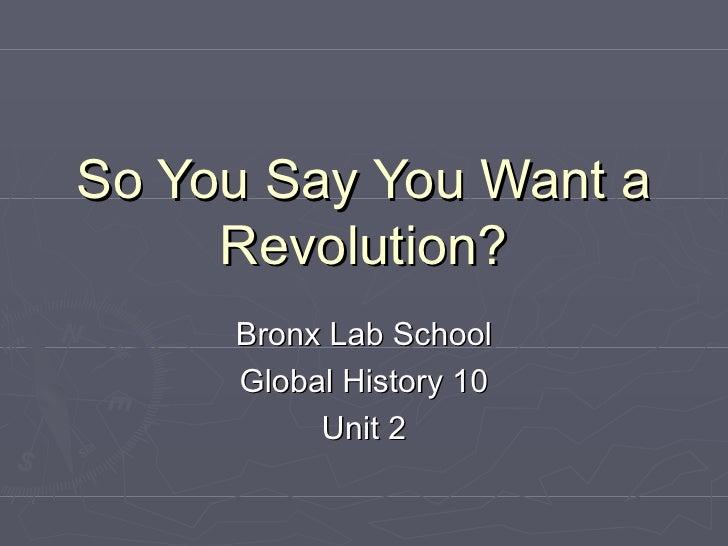 Unit 2 - French Revolution
