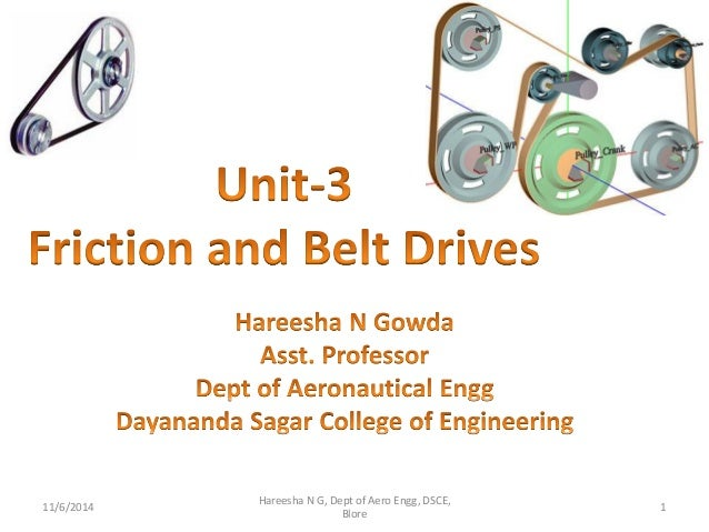 Friction and belt drives