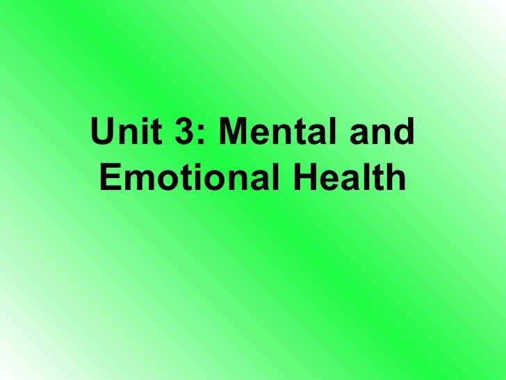 Unit 3 Health Book