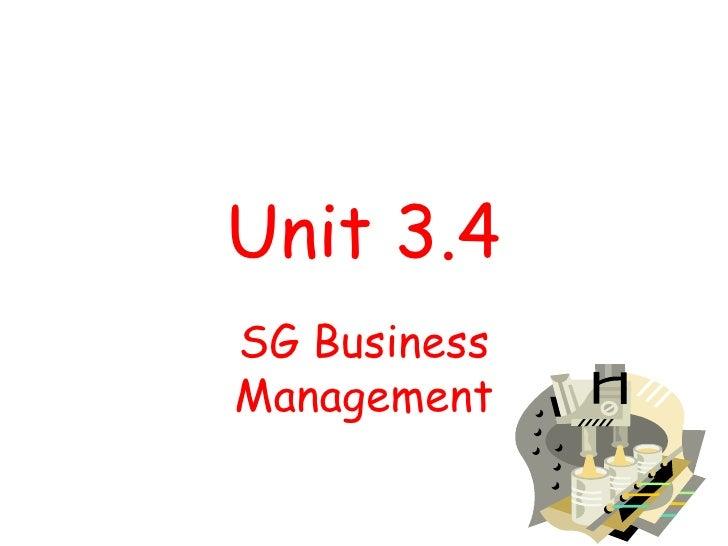 Unit 3.4 SG Business Management