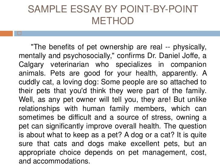 Descriptive essay example about my pet
