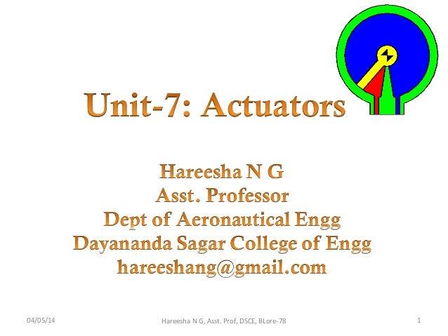 04/05/14 1Hareesha N G, Asst. Prof, DSCE, BLore-78