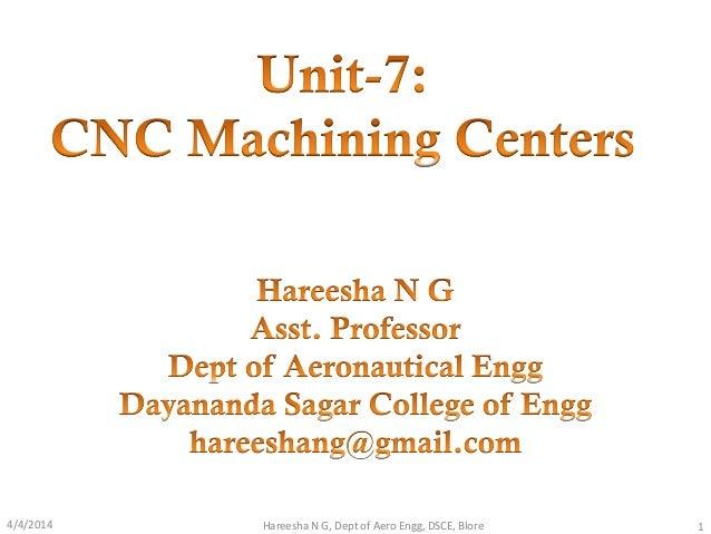 4/4/2014 1Hareesha N G, Dept of Aero Engg, DSCE, Blore
