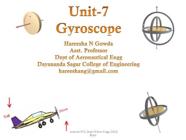 11/6/2014 1 Hareesha N G, Dept of Aero Engg, DSCE, Blore
