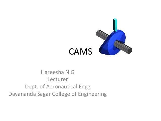 CAMS Hareesha N G Lecturer Dept. of Aeronautical Engg Dayananda Sagar College of Engineering