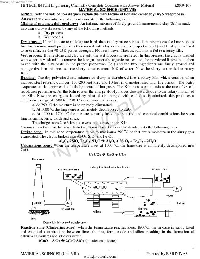 www.jntuworld.com          I B.TECH JNTUH Engineering Chemistry Complete Question with Answer Material                    ...