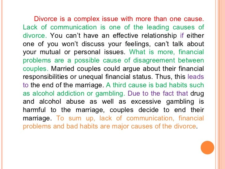 Write my causes of divorce essays