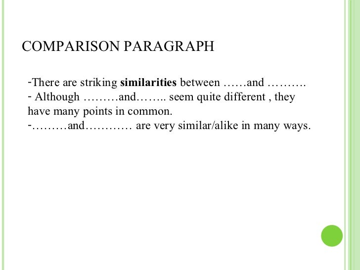 How do i start my introduction paragraph on my comparasion essay?