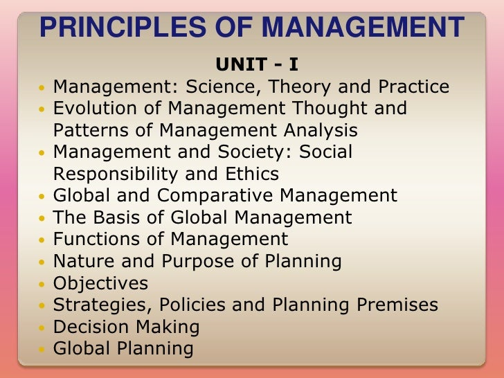 management principle, management theory, and management practices essay Business 101: principles of management final free practice test instructions choose your answer to the question and click 'continue' to see how you did then click 'next question' to answer the.