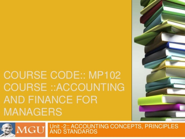 Accounting and Finance -Unit 02