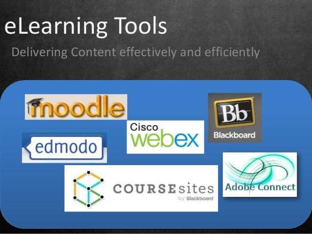eLearning Tools Delivering Content effectively and efficiently