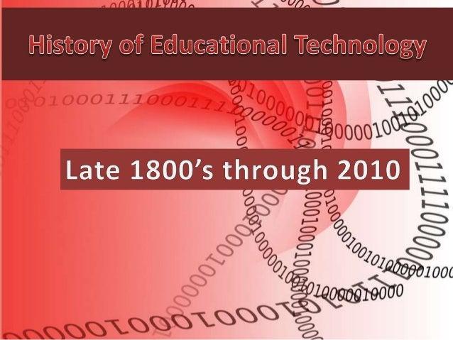 Unit 05 history of educational technology