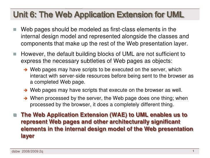[DSBW Spring 2009] Unit 06: Conallen's Web Application Extension for UML (WAE2)
