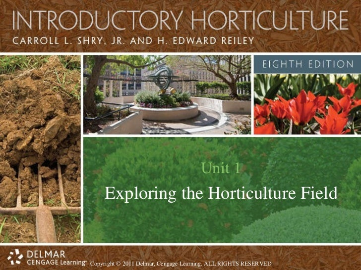 Unit 1 Exploring the Horticulture Field