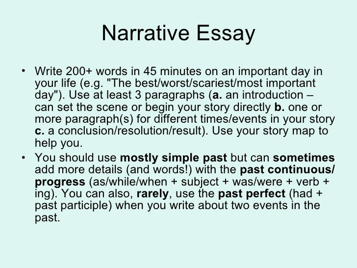 narrative essay samples When you need an example written by a student, check out our vast collection of free student models scroll through the list, or search for a mode of writing such as explanatory or persuasive.
