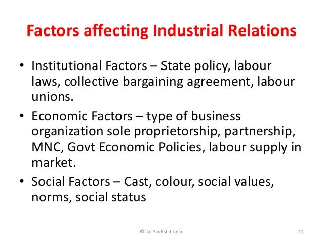 factors affecting the influence of organizational