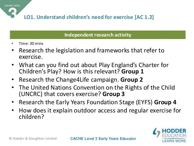 cache level 3 in childcare and education research task 2 Cache level 3 diploma in childcare and education (2yr) - (3 a level equivalent) you will discover how children learn through play and how practitioners provide an enabling (in each year of your course you will have an externally assessed task taken under exam conditions in the.
