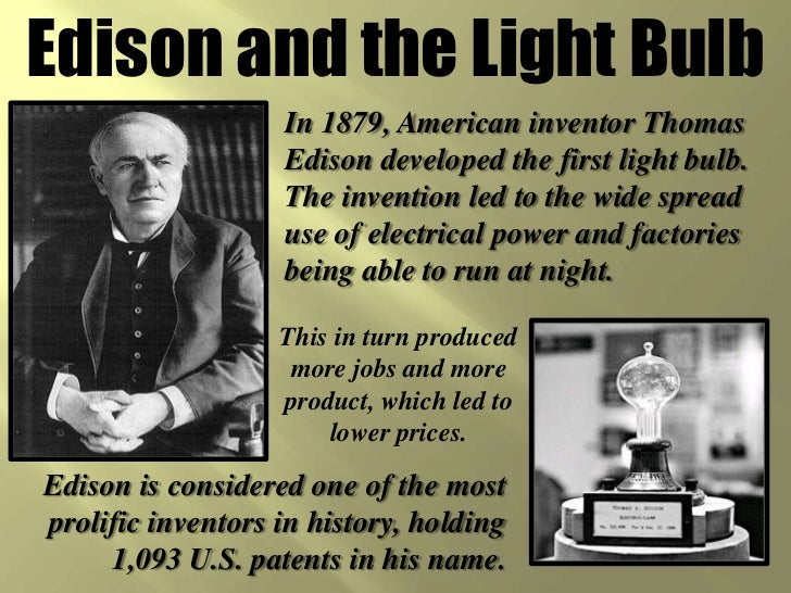 the inventor of modern technology a thomas alva edison biography Thomas alva edison was born in 1847, the youngest of 7 children, in milan, oh his father, sam, was a political refugee from canada, who fled execution after a failed.