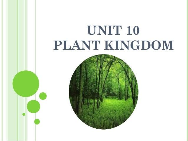 UNIT 10PLANT KINGDOM
