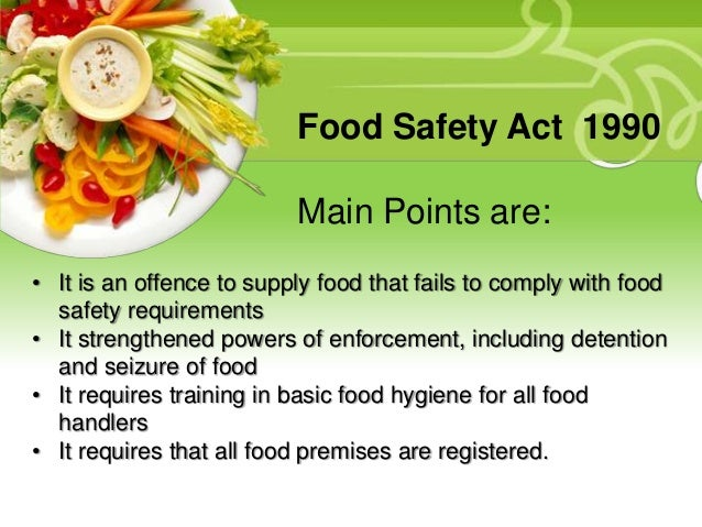 What Is The Food Act  Safety Regulations