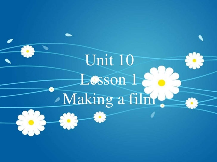 Unit 10 lesson1