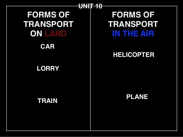 Unit10 transportand communication