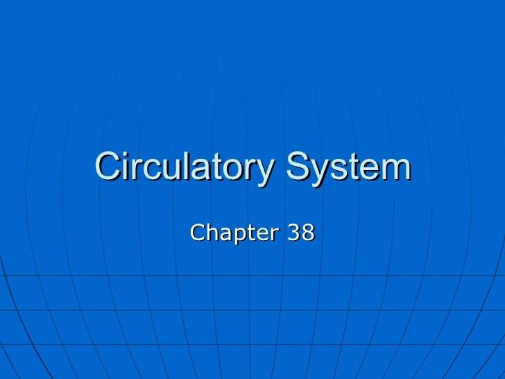 Circulatory System Chapter 38