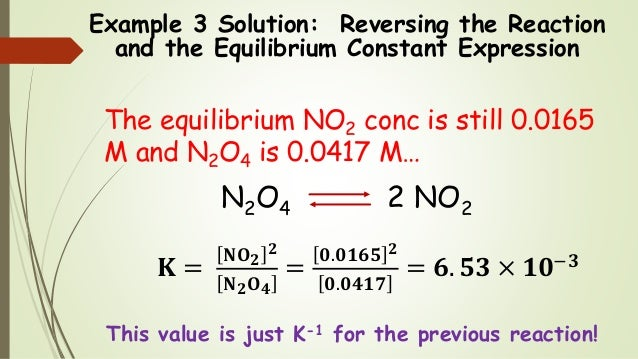 how to write an equilibrium constant expression