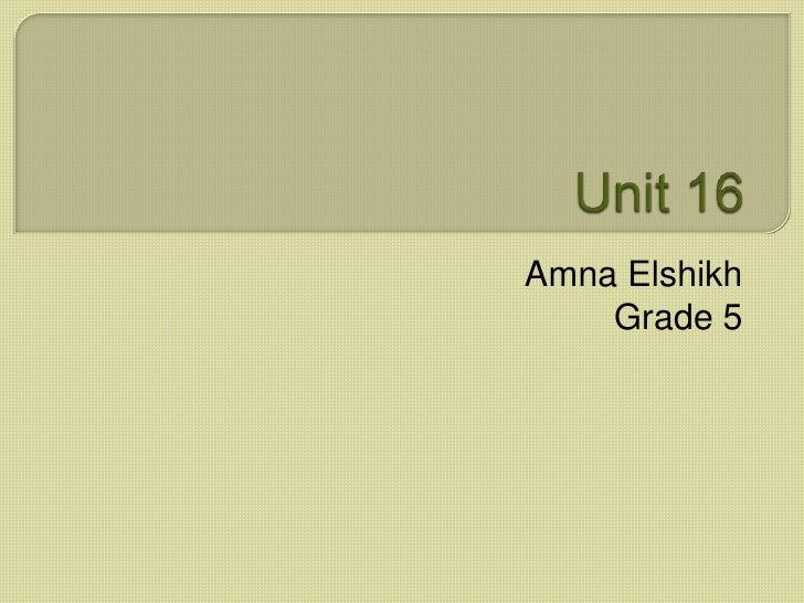 Amna Elshikh    Grade 5