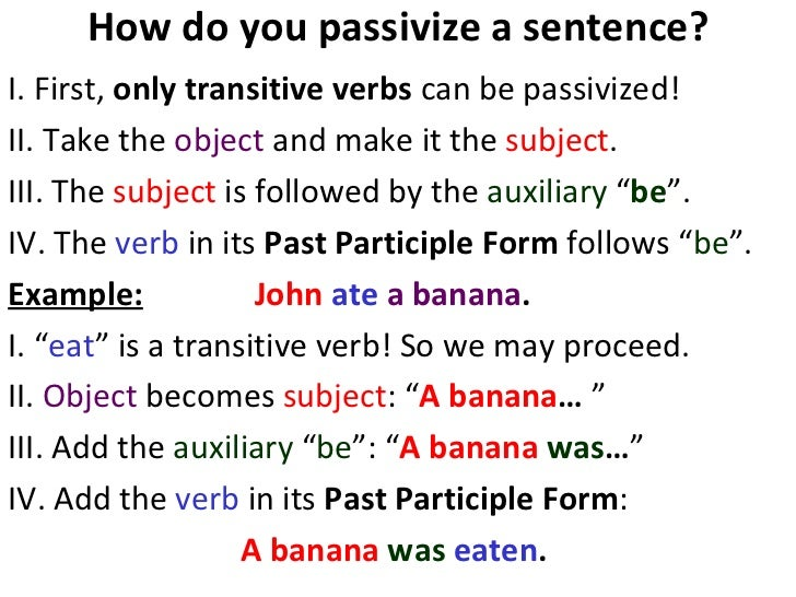 how to change passive to active voice