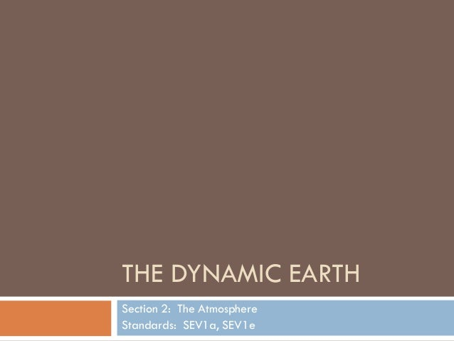 THE DYNAMIC EARTHSection 2: The AtmosphereStandards: SEV1a, SEV1e