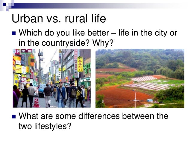 essay on rural and urban areas