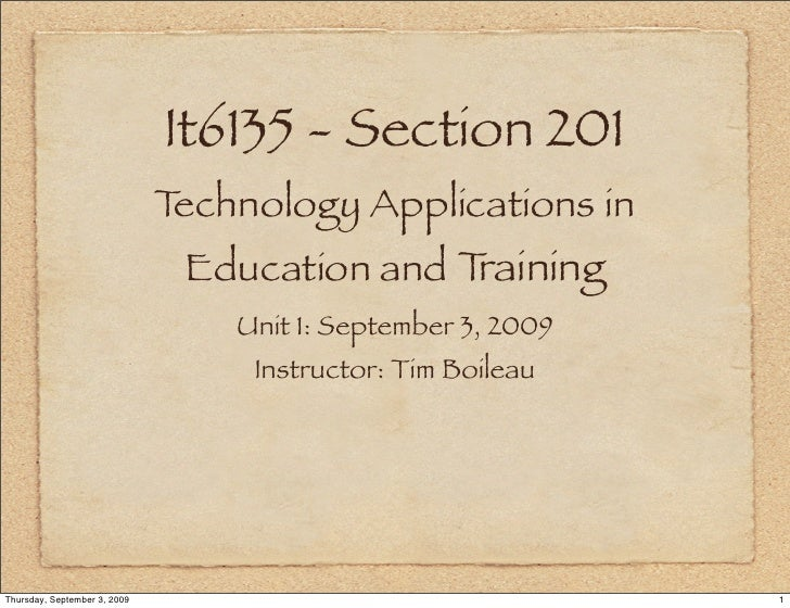 It6135 - Section 201                               Technology Applications in                                Education and...