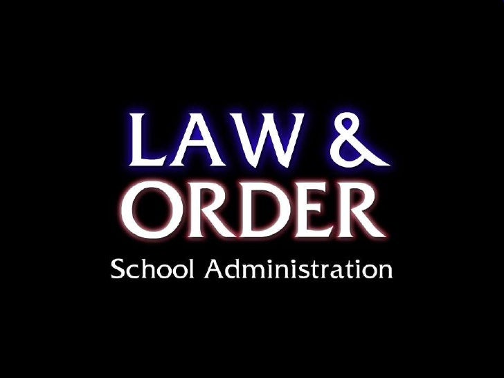 Unit 1 law & order introduction to school law