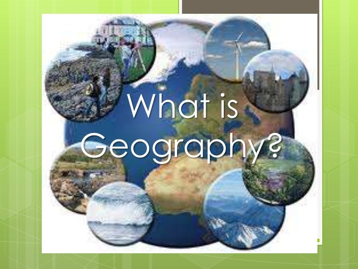 What isGeography?