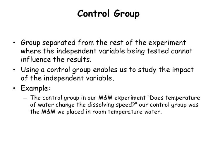 Science homework help what is a control group