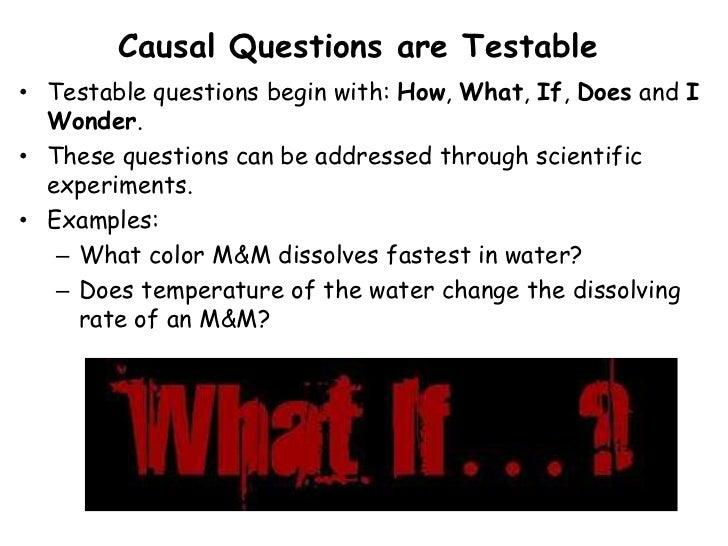 Examples Of Scientific Questions Idealstalist