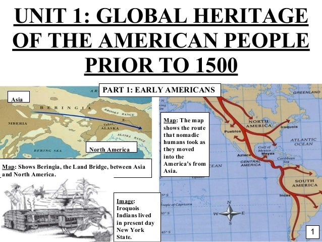 * Map: The map shows the route that nomadic humans took as they moved into the America's from Asia. North America Asia Map...